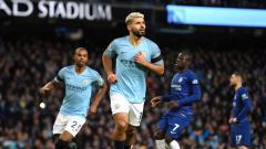 Indosport - Aguero usai cetak hattrick ke gawang Chelsea