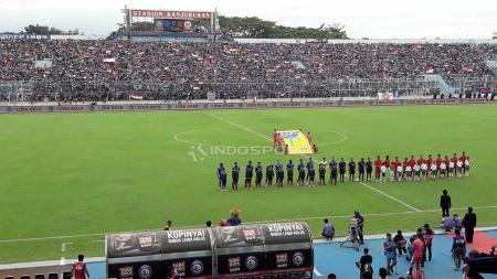 Pertandingan Ujicoba antara Arema FC vs Timnas Indonesia U-22. - INDOSPORT