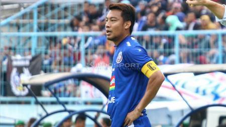 Kapten Tim Arema FC, Hamka Hamzah. - INDOSPORT