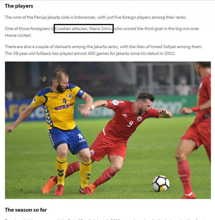 Laman Resmi Newcastle Jets Salah dalam Menyebut Pemain Persija Jakarta Copyright: newcastlejets.com