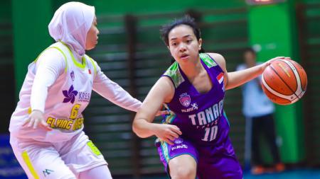 Srikandi Cup, Tanago Friesian Jakarta vs Flying Heels Makassar. - INDOSPORT