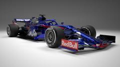 Indosport - Mobil baru Toro Rosso untuk musim balap Formula 1 2019.