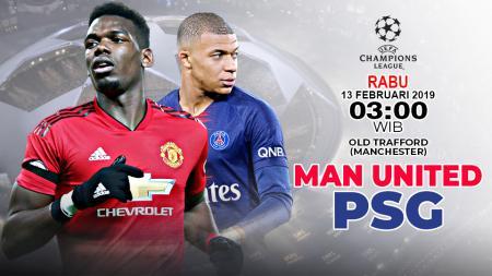 Pertandingan Manchester United vs Paris Saint-Germain. - INDOSPORT
