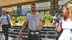 Indosport - Marko Simic usai mengunjungi kantor pengadilan Sydney.
