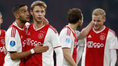 Indosport - Selebrasi para pemain Ajax Amsterdam.