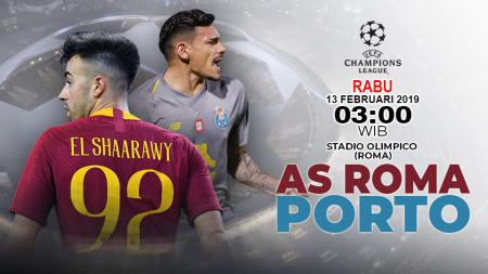 Pertandingan AS Roma vs Fc Porto. - INDOSPORT