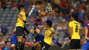 (GALERI FOTO) Persija Jakarta Terjungkal di Markas Newcastle Jets