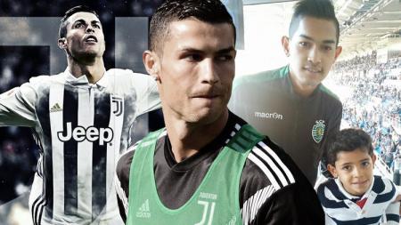 Cristiano Ronaldo, Martunis, dan Ronaldo JR - INDOSPORT
