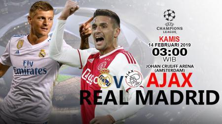 Prediks Ajax vs Real Madrid di Liga Champions Eropa 2018. - INDOSPORT