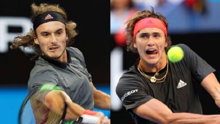 Alexander Sverev & Stefanos Tsitsipas pernah menumbangkan Roger Federer di dua turnamen terakhir. Copyright: ABC