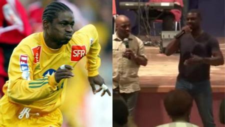 Pemain asal Gabon, yang mengaku pernah berhubungan seks dengan saudara dan tante kandungnya. - INDOSPORT