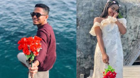 Pasangan atlet, Reva Adi Utama dan Alya Nadira (polo air). - INDOSPORT