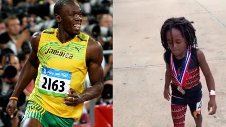 Bocah lelaki yang memiliki kemampuan lari dengan sangat cepat seperti Usain Bolt - INDOSPORT
