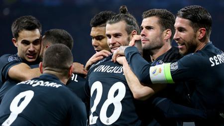 Selebrasi para pemain Real Madrid. - INDOSPORT