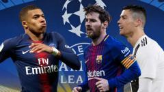 Indosport - Mbappe ungguli statistik Ronaldo dan Messi di Liga Champions.