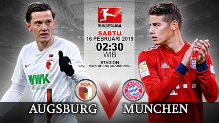 Pertandingan Augsburg vs Bayern Munchen. - INDOSPORT