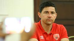 Pelatih PSM, Darije Kalezic dalam jumpa pers Piala Indonesia