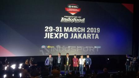 Acara konferensi pers ESL Indonesia Championship di Mall Grand Indonesia,  Jumat (15/02/19). - INDOSPORT