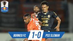 Indosport - Hasil pertandingan Borneo FC vs PSS Sleman.