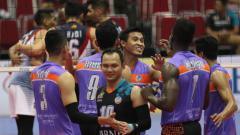 Indosport - Situasi pertandingan Jakarta BNI 46 vs Surabaya Bhayangkara Samator