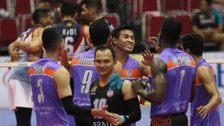 Situasi pertandingan Jakarta BNI 46 vs Surabaya Bhayangkara Samator - INDOSPORT