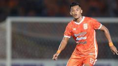 Indosport - Lerby Eliandry pada laga melawan PSS Sleman