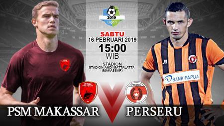 Leg Pertama babak 16 besar Piala Indonesia PSM Makassar vs Perseru. - INDOSPORT