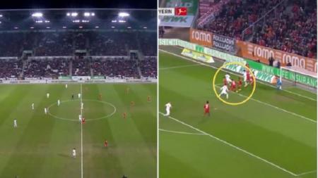 Gol bunuh diri Gelandang Bayern Munchen, Leon Goretzka. - INDOSPORT