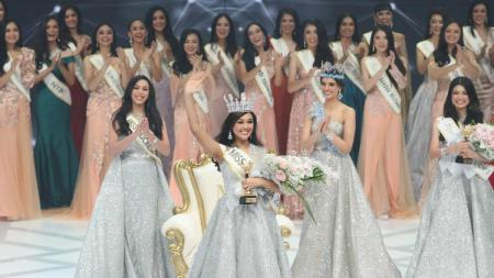 Pemenang Miss Indonesia 2019, Princess Megonondo. - INDOSPORT