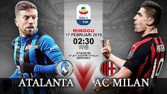 Indosport - Pertandingan Atalanta vs AC Milan.