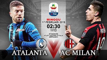 Pertandingan Atalanta vs AC Milan. - INDOSPORT