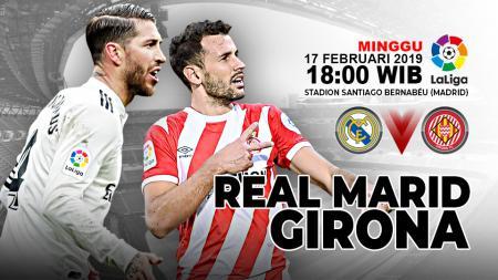 Pertandingan Real Madrid vs Girona. - INDOSPORT