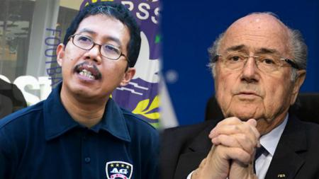 Joko Driyono dan Sepp Blatter - INDOSPORT