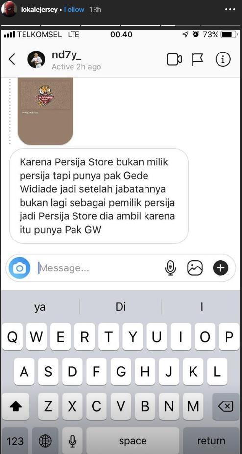Diskusi pergantian nama Persija Store di akun Instagram @Lokaljersey. Copyright: Instagram.com/lokaljersey