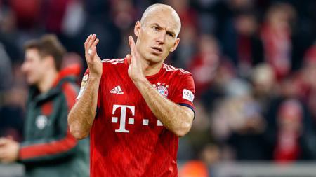 Arjen Robben, gelandang serang Bayern Munchen besar kemungkinan akan hengkang di musim depan. - INDOSPORT