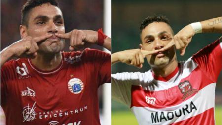 Jaimerson saat berseragam Persija dan Madura United. - INDOSPORT