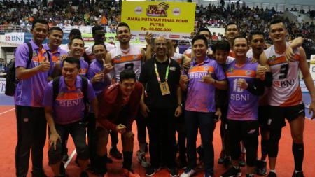 Jakarta BNI 46 sebagai juara Final Four Proliga 2019. - INDOSPORT