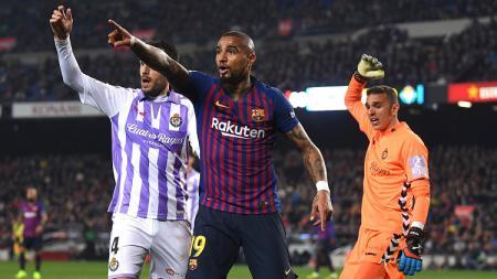 Boateng saat laga melawan Real Valladolid - INDOSPORT