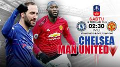 Indosport - Pertandingan Chelsea vs Manchester United.