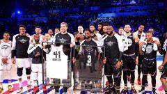 Indosport - Gelaran NBA All-Star 2019 sukses digelar.
