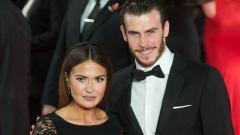 Indosport - Gareth Bale dan kekasihnya, Emma Rhys-Jones.
