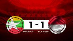 Indosport - Babak pertama Myanmar vs Indonesia