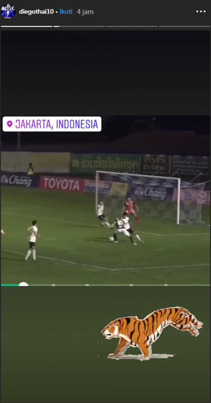 Diego Silva mengunggah video yang menunjukkan lokasi di Jakarta Copyright: Instagram/@diegothai10