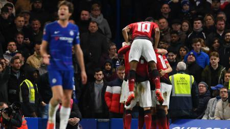 Chelsea vs Manchester United. - INDOSPORT