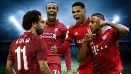 Ilustrasi para pemain Liverpool dan Bayern Munchen. - INDOSPORT