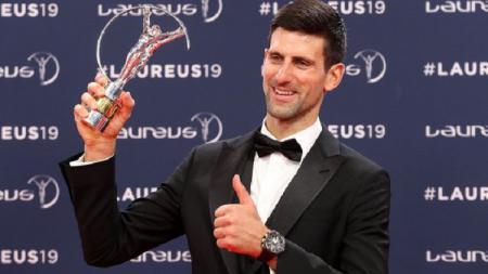 Novak Djokovic raih penghargaan di Laureus Awards 2019. - INDOSPORT