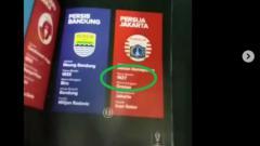 Indosport - Buku program Piala Presiden salah tulis tahun berdiri Persija.