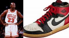Indosport - Sepatu Michael Jordan yang konon dibuat pada tahun 1984 sempat terlantar di gudang.