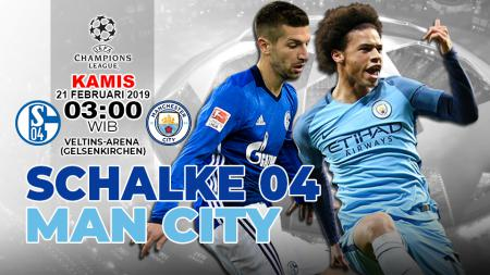 Pertandingan Schalke 04 VS Man City - INDOSPORT