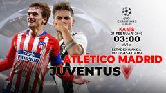 Indosport - Prediksi pertandingan Atletico Madrid vs Juventus